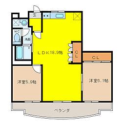 Villa SUZUKA[3階]の間取り