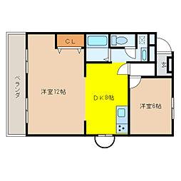 Villa SUZUKA[2階]の間取り