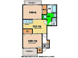 ハーブマンション武中[1階]の間取り