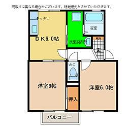 スイートハウスII棟[2階]の間取り