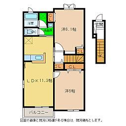 マーヴェラスA・B[2階]の間取り