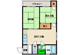 島田マンション[3階]の間取り