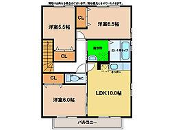 グランモア那賀川A棟[2階]の間取り