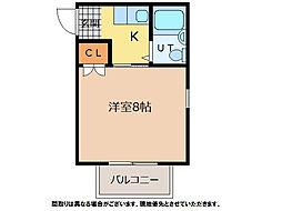シグナルハイツ論田[3階]の間取り