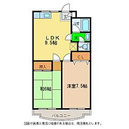 シャルムKOHAKU[1階]の間取り