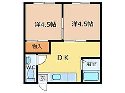 脇谷マンション[2階]の間取り