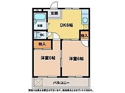 C.H稲田マンション今市[2階]の間取り