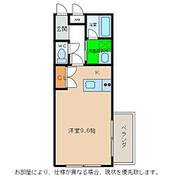 プレジデント那賀川[1階]の間取り