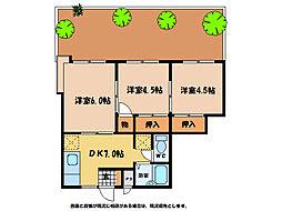ツインハウス2[1階]の間取り