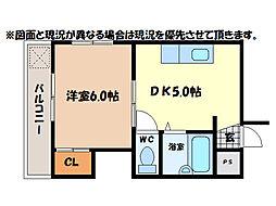 富田橋稲守ビル[4階]の間取り