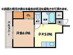 富田橋稲守ビル[3階]の間取り