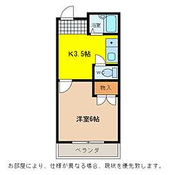 シティガーデン富田[4階]の間取り
