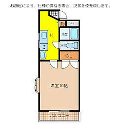 メゾンアムール[1階]の間取り