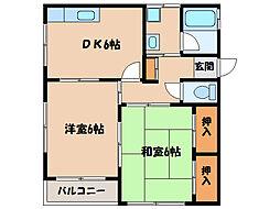 サニー瀬戸口[2階]の間取り