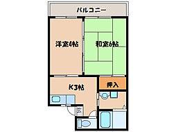 サニー瀬戸口[1階]の間取り