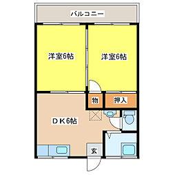 グリーンコーポ久木田[2階]の間取り