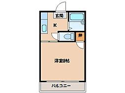 かりんハイツII[2階]の間取り