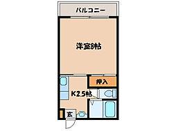 ハイツ花岡[2階]の間取り