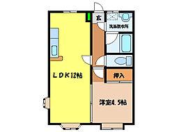 シャイニングシティマンション[1階]の間取り
