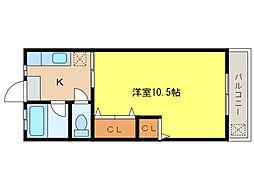 コーポ竹下[2階]の間取り