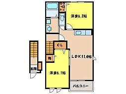 ハーレーIII[2階]の間取り