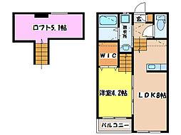 RESIDENCE NISHIHARA I、II[2階]の間取り