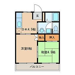 スカイマンション[2階]の間取り