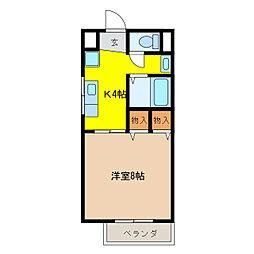 ハピネスMI[1階]の間取り