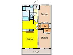 小城苑[2階]の間取り