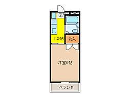 森田ハイツ[2階]の間取り