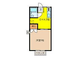 ユニメントオカダ[1階]の間取り