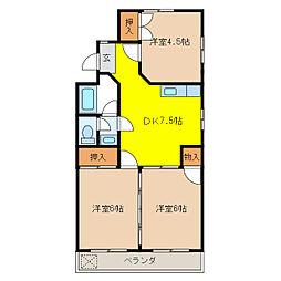 松野マンション[1階]の間取り