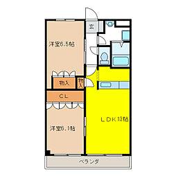 LRロジュマン[2階]の間取り
