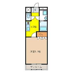 エンプレスガーデン[1階]の間取り