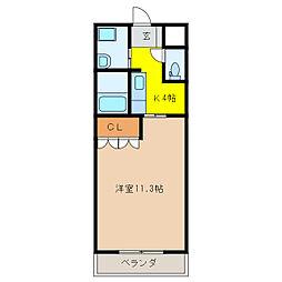 エルピス平成[1階]の間取り