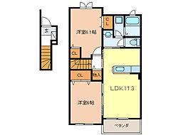 クレメント リバー[2階]の間取り