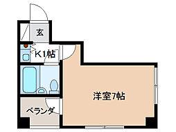 サンライフ千代田[4階]の間取り