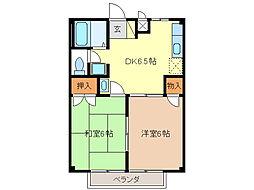 レインボーハウス B[1階]の間取り
