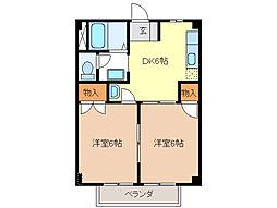 オリオンハイム[2階]の間取り