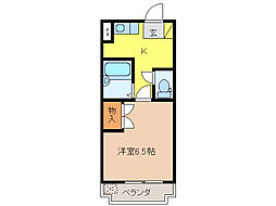 PARK SIDE IWASAKI[3階]の間取り