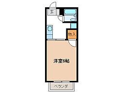 コーポヤマテ[1階]の間取り