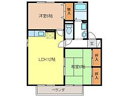 ハイカムールSUWA[1階]の間取り