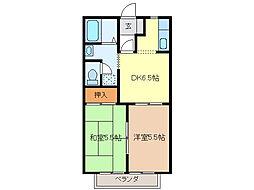 リバーサイドSUWA[1階]の間取り