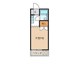 古田コーポ[3階]の間取り