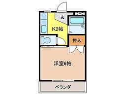 コーポ大桜III[1階]の間取り