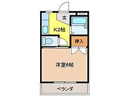 コーポ大桜III[2階]の間取り