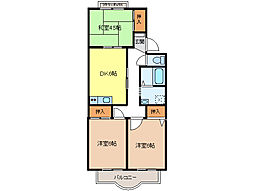 リバーサイドSUWA A[2階]の間取り