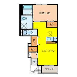 萱場K様新築アパートA棟[1階]の間取り
