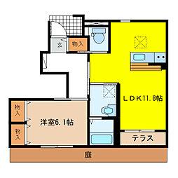 萱場K様新築アパートB棟[1階]の間取り