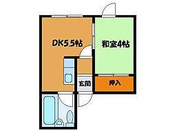 北海道函館市千代台町の賃貸アパートの間取り
